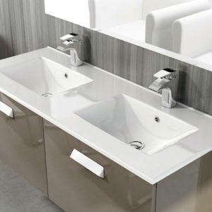 Encimera Cerámica para Baño de 2 Senos Modelo Thin de Art&Bath