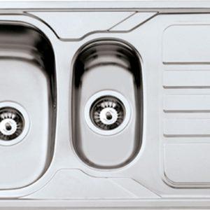 Fregadero de Cocina para Encastrar 1,5 Senos Modelo OKIO LINE 100 FLAT de Rodi