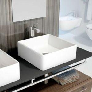 Lavabo Cerámico sobre Encimera Cuadrado Modelo Apis de Art&Bath
