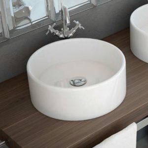 Lavabo Cerámico sobre Encimera Redondo modelo Tebas de Art&Bath