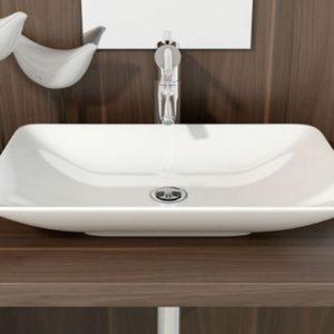 Lavabo de Cerámica para baño sobre Encimera Modelo Nova Marca Art&Bath