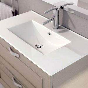 Encimera Cerámica para Baño Cuadrada Modelo Thin marca Art&Bath