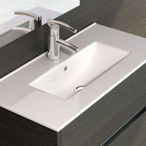 Lavabo de Cerámica con Fondo Reducido Modelo Thin marca Art&Bath