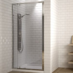 Mampara de ducha frontal con puerta abatible