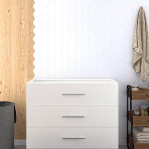 Mueble de Baño sin lavabo con tres cajones moderno