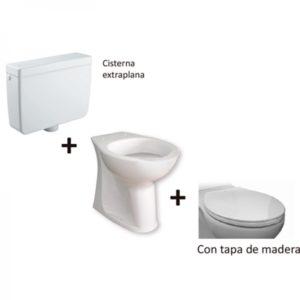 Kit Accesible de Inodoro con Tapa de Madera