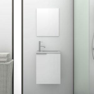 Mueble de baño Pequeño Moderno con Espejo y Lavabo
