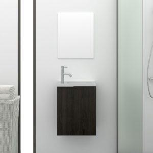 Mueble de baño Pequeño Compacto con Espejo y Lavabo
