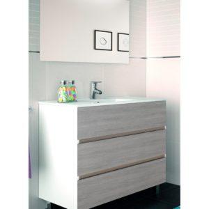 Mueble de Baño con tres cajones Dos Colores sin Lavabo
