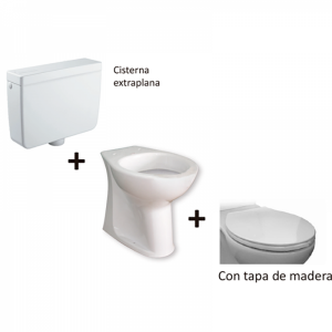 Kit inodoro movilidad reducida cisterna extraplana