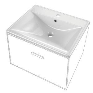 Encimera Cerámica para Baño Cuadrada Pequeña Modelo Thin marca Art&Bath