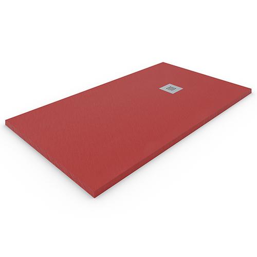 Plato de ducha de resina Rojo
