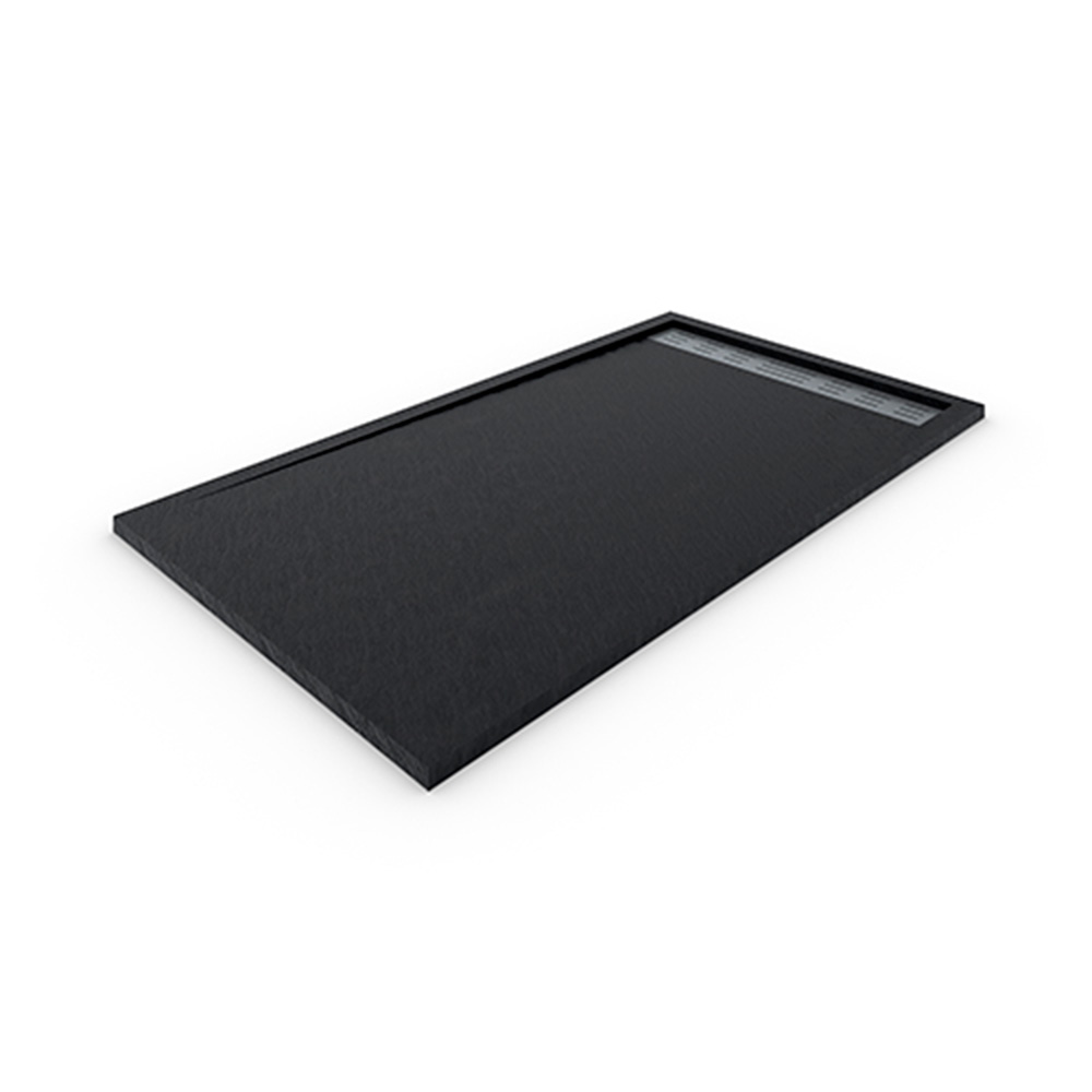Plato de ducha de resina con marco Negro
