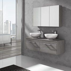 Muebles de baño con encimera de madera